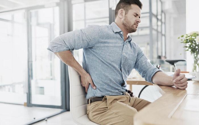 malas posturas en el trabajo