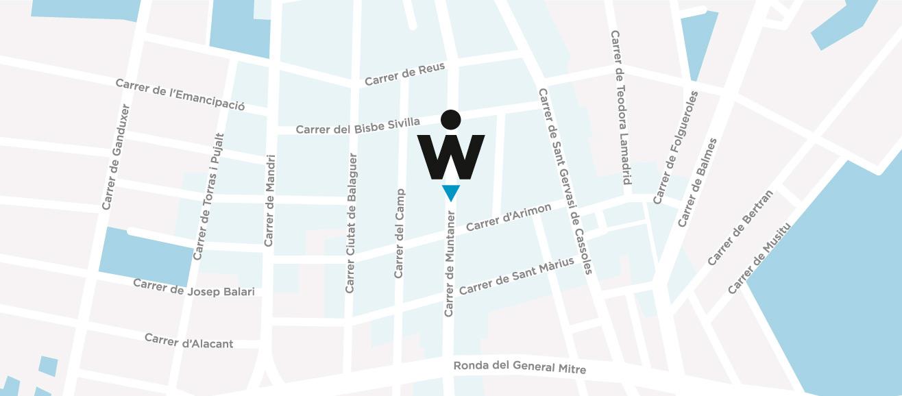 Mapa Wunder Training - Gimnasio Barcelona