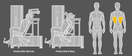 entrenament esquena - C1 Dorsal ample Wunder Training